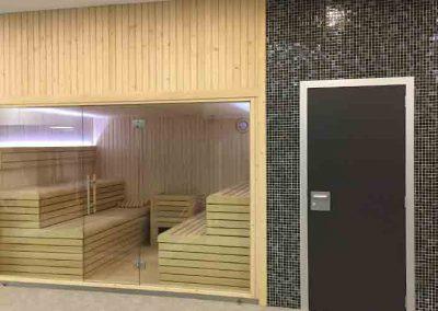 Sauna instalada en Zubieta Real Sociedad