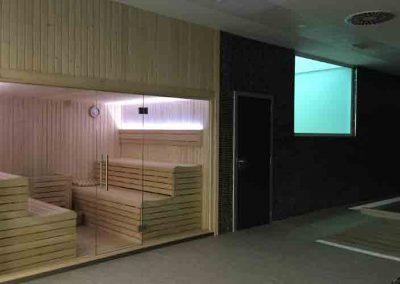 Sauna de la Real Sociedad instalada en Zubieta por Argysan