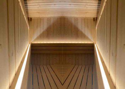 Iluminación sauna