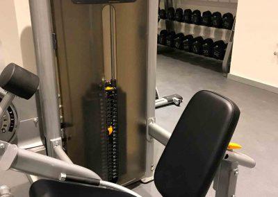 maquina musculación del gimnasio del hotel Axel equipado por Argysan